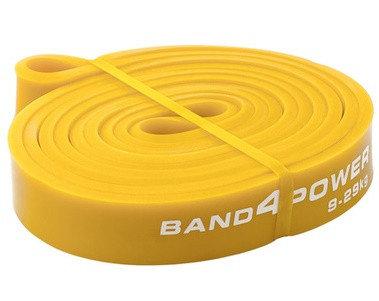 Желтая резиновая петля (9 - 29 кг). Петли для разминки. Петли для фитнеса, фото 2