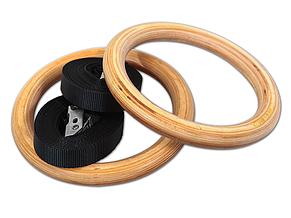 Гимнастические кольца деревянные (32 мм), фото 2