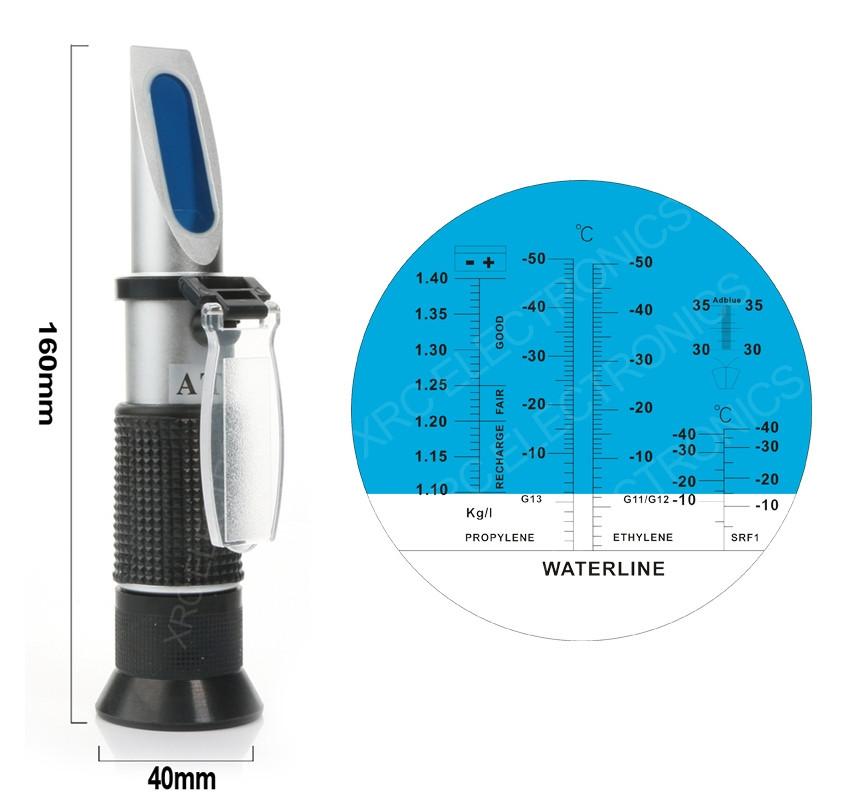 Рефрактометр для антифриза, электролита и незамерзайки