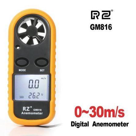 Анемометр (ветромер) RZ-816. Прибор для измерения скорости движения газов, воздуха, ветра., фото 2