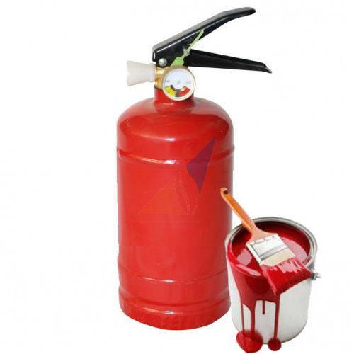 Частичная покраска огнетушителя