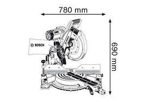 Пила торцовочная BOSCH GCM 12 GDL Professional 0601B23600, фото 2
