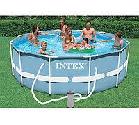Каркасный бассейн для дачи круглый 366x122 cм, Intex 26718