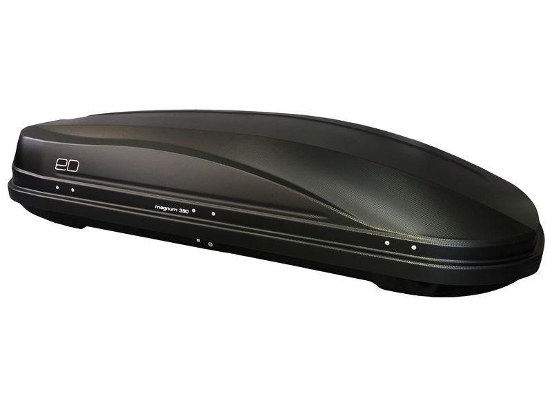 Бокс автомобильный Магнум 390 черный, тиснение карбон Быстросъем