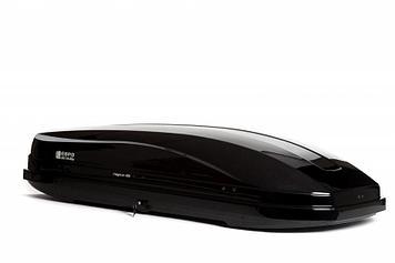Бокс автомобильный Магнум 420 черный металлик Быстросъем