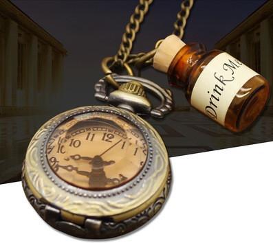 Карманные кварцевые часы на цепочке Drink Me. Kaspi RED. Рассрочка.