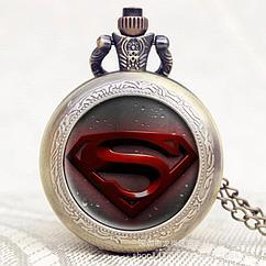 Карманные кварцевые часы на цепочке SuperMan. Рассрочка. Kaspi RED.
