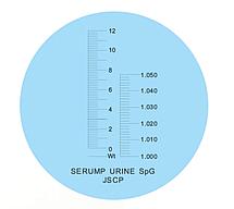 Рефрактометр для определения плотности мочи, сыворотки протеина , фото 3