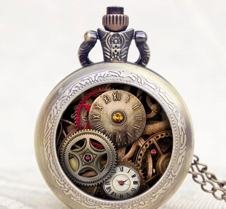 Карманные кварцевые часы на цепочке