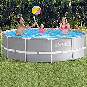 Каркасный бассейн 366х99 см с фильтр-насосом и лестницей, Intex 26716