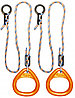 Кольца гимнастические треугольные 02 В оранжевый