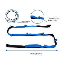 Ремень для растяжки, йоги, пилатеса, гимнастики (Stretch Strap), фото 3