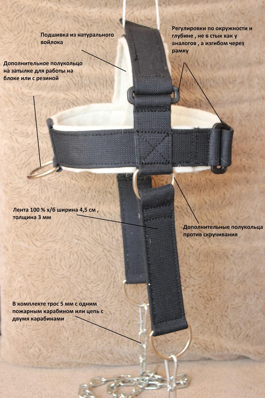Головная лямка для шеи. Тренажер для тренировки шеи. Упряжь - фото 2