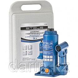 Домкрат гидравлический бутылочный, 3 т, H подъема 178-343 мм, в пластиковом кейсе Stels