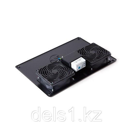 Вентиляторная панель с термостатом, SHIP, 700402112Т, 2 x 12 см, Питание 220V, Чёрный