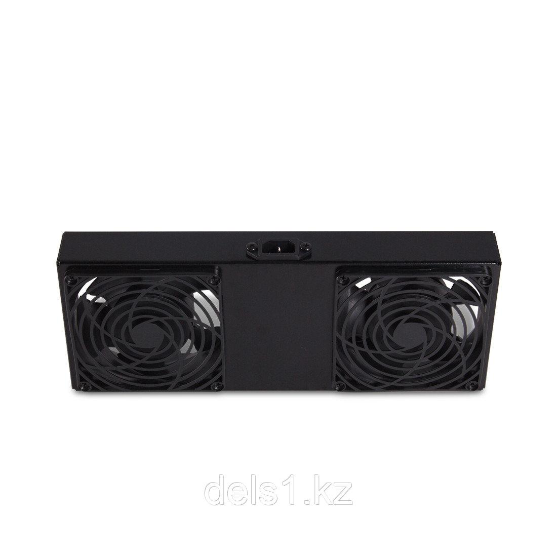 Вентиляторная панель для шкафов SE серии, SHIP, 701024002, 2 x 12 см, Питание 220V, Чёрный
