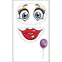 Шар наклейка ПР 0200661 улыбка с глазами