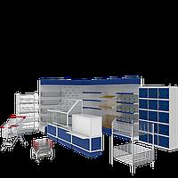 Торговое оборудование, торговые стеллажи, витрины