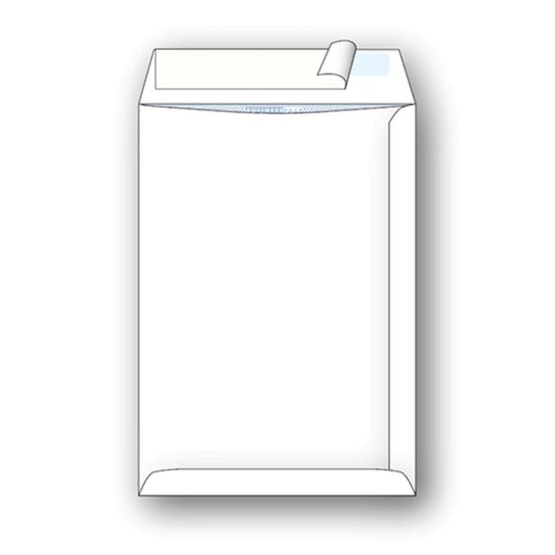 Конверт С4 (229 х 324 мм) пакет, белый, внутренняя запечатка