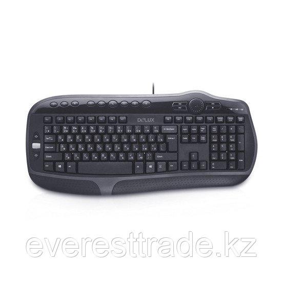 Клавиатура, Delux, DLK-9050UB, USB, Кол-во стандартных клавиш 104, 16 мультимедиа-клавиш