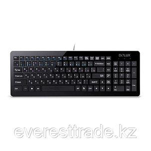 Клавиатура, Delux, DLK-1500UB, Ультратонкая, USB, Кол-во стандартных клавиш 104, 12 мультимедиа-клавиш, фото 2