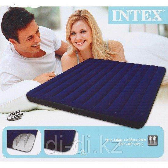 Надувной матрас Intex 183* 203* 22 см (2-х местный)