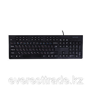 Клавиатура, Delux, DLK-180UB, USB, Кол-во стандартных клавиш 104, кабель 1,6м, фото 2