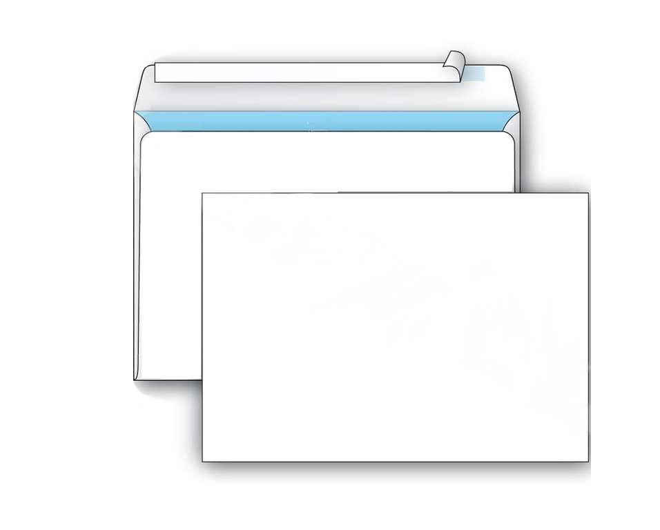 Конверт С5 (162х229 мм) белый, удаляемая лента, внутренняя запечатка