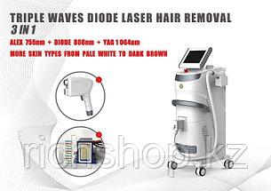 """Диодный лазер """"Hybride"""" для удаления волос 755/808/1064 nm 600 Вт"""