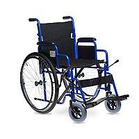 Кресло-коляска для инвалидов Н 003, синий/черный