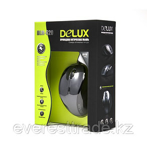 Мышь, Delux, DLM-620OUB, 7D, Оптическая, 1000-1600-2400dpi, USB, кабель 2м, фото 2