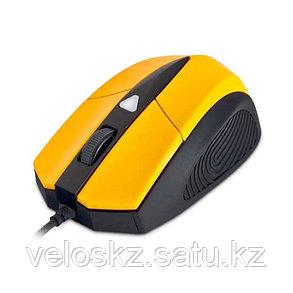 Мышь, Delux, DLM-480LUY, 4D, Игровая, Лазерная, Жёлто-Чёрный, кабель 2м, фото 2