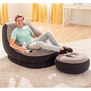 """Надувное кресло с пуфиком """"Ultra Lounge"""" 130х99х76см, Intex 68564"""