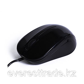 Мышь, Delux, DLM-135OUB, Оптическая, USB, 1000 dpi, Длина провода 1,6м, Чёрный, фото 2