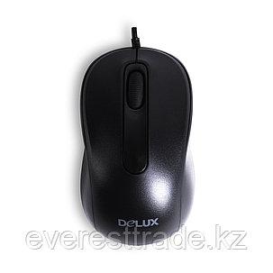 Мышь, Delux, DLM-109OUB, Оптическая, USB, 1000 dpi, Длина кабеля 1,6м, Чёрный, фото 2