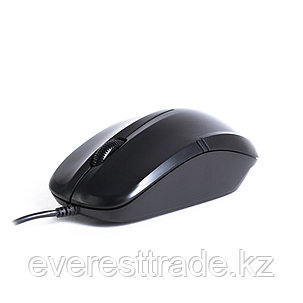 Мышь, Delux, DLM-136OUB, Оптическая, USB, 1000dpi, Длина провода 1,6 м, Чёрная, фото 2