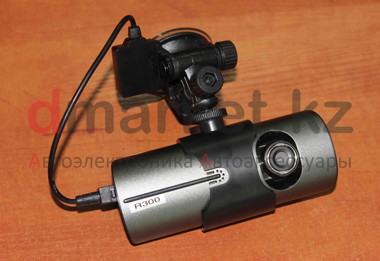 Автомобильный видеорегистратор R300, GPS трекер, 2 камеры