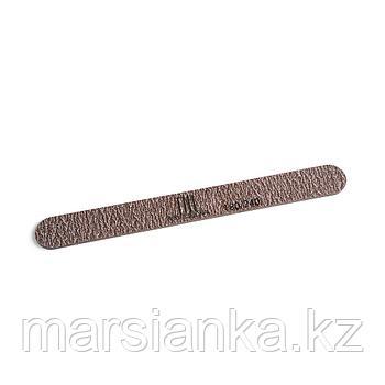 Пилка для ногтей узкая 180/240, экста-класс коричневая в уп.