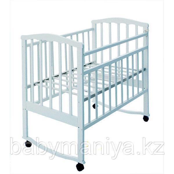 Кровать детская АГАТ ЗОЛУШКА-1 (колесо качалка) Белый
