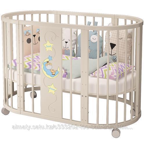 Детская кровать Эстель ,цвет венеге,слоновая кость.