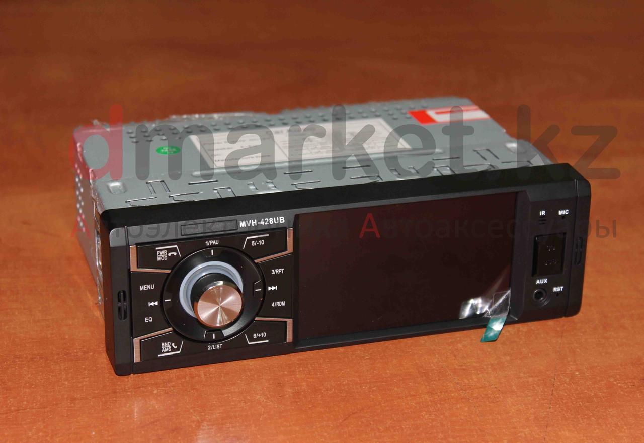 Автомагнитола 1DIN MVH-428UB, экран 4 дюйма, радио, USB, Bluetooth, MP3, AUX, камера
