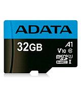 Флешка ADATA microSDHC, 32GB, UHS-I Class 10 A1 + SD adapter
