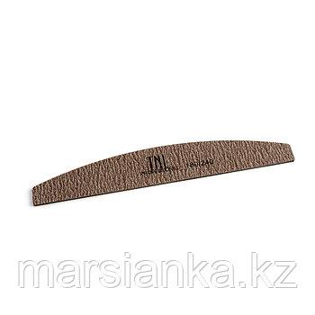 """Пилка для ногтей """"лодочка"""" 180/240, коричневая в уп. пластик основа"""
