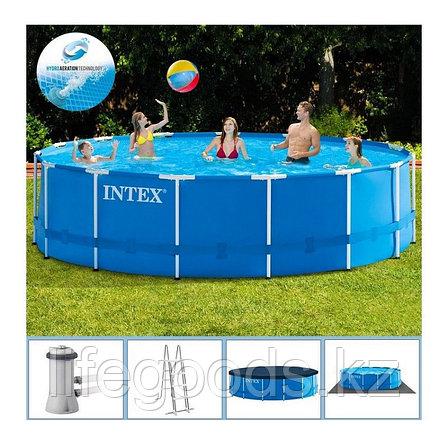 Каркасный бассейн 457x122 см, полный комплект, Intex 28242, фото 2