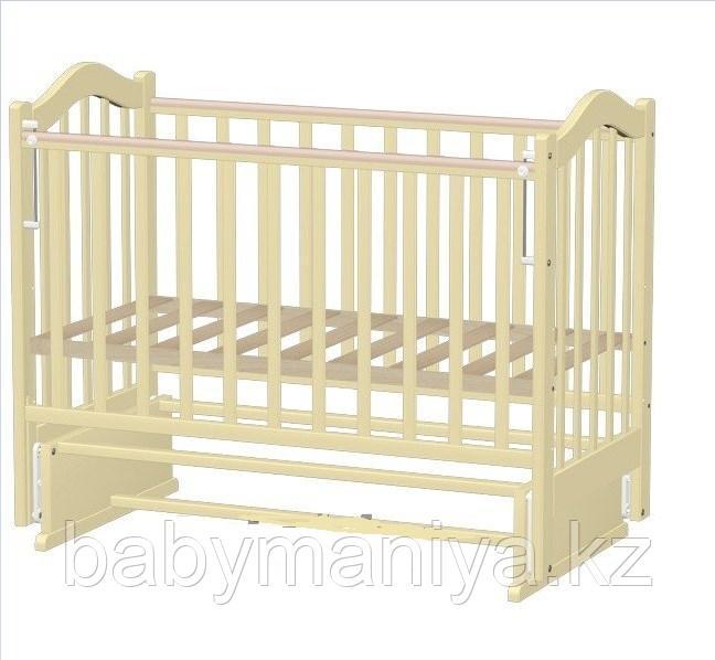 Кровать детская Ведрусс  ЛАНА-7 маятник без ящика, сердечко слон.кость