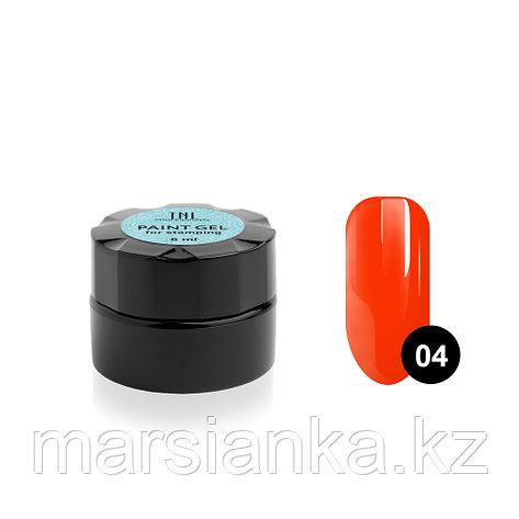 Гель-краска для стемпинга TNL #04 (неоновая оранжевая), 6мл , фото 2
