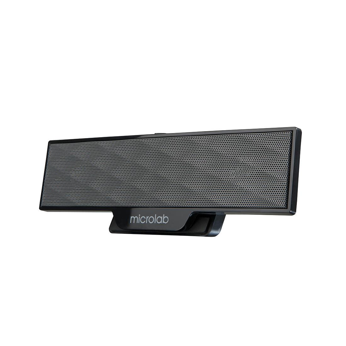Колонки  MicroLab  B51(USB)  2.0  4Вт (2Вт*2)  USB (питание)  3 5 MiniJack  205*68*35 мм.  Чёрный
