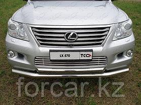 ОБВЕС защитно-декоративный из нержавеющей стали LEXUS LX 570 2007-2012, фото 3