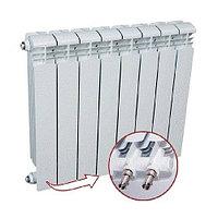 Радиатор алюминиевый секционный Rifar Alum Ventil 500 - 8 секций (подключение нижнее слева)