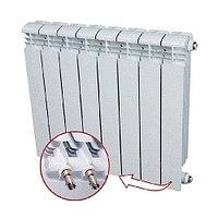 Радиатор алюминиевый секционный Rifar Alum Ventil 350 - 8 секций (подключение нижнее справа)